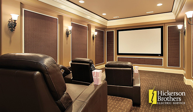 Consider Room Size Before Buying Home Theater Items & 4 Tips for Building a Home Theater - Hickerson Brothers Electric ...
