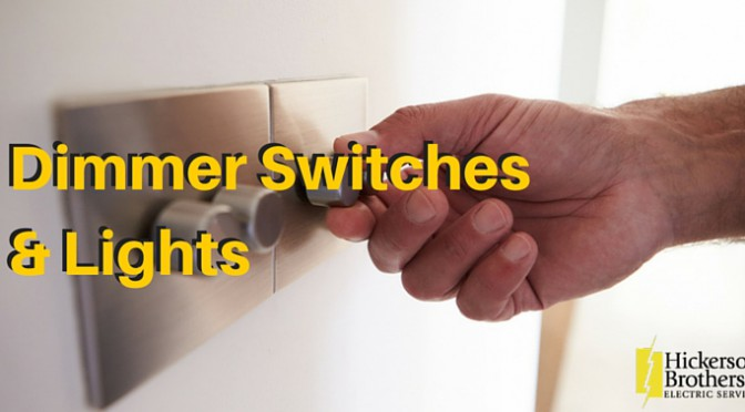 How do electrical dimmer switchers work with lights